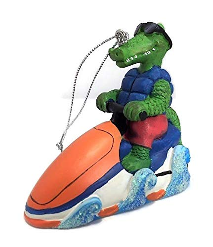 Scout & Company Alligator Gator on Jet Skifigur, Florida Strand Dekoration, Gators Dekorationen, Wassersport-Geschenke für Männer und Frauen