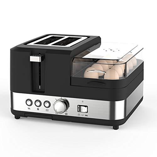 Toaster vollautomatisch Hause Multi-Funktions-Frühstück Elektrische Küchengeräte (Color : Black, Size : 29.8 * 28.5 * 18.2cm)
