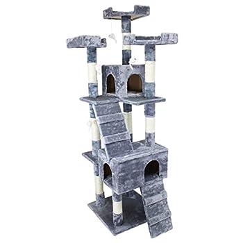 Beauty Pet ® Arbre à chat géant 170 cm modèle Caprice - Cinq coloris - Norme CE - Gris