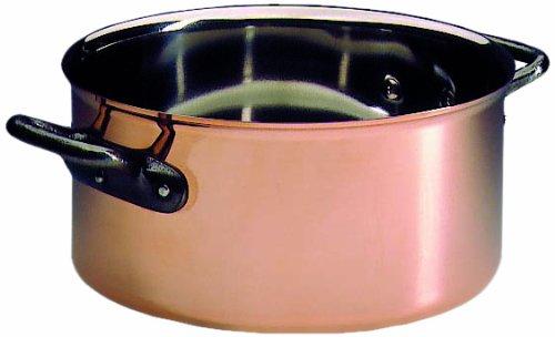 Matfer Bourgeat Kasserolle ohne Deckel, Kupfer, 17,8 cm