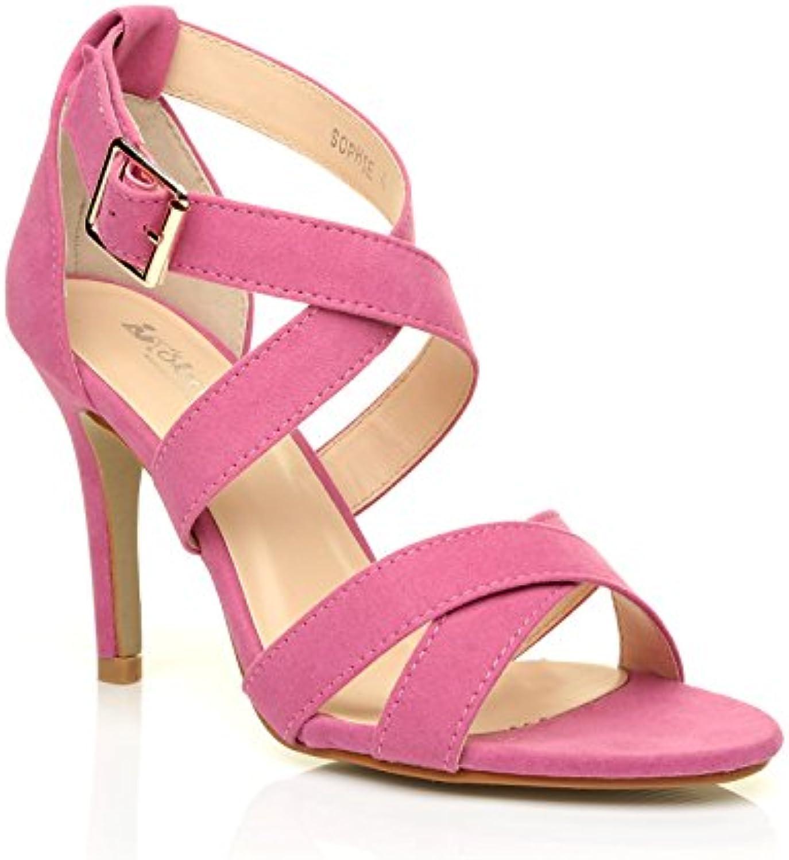sophie sandales à talon haut rose rose rose rose faux suède sandales b07d3ycfrc parent 4cb46f
