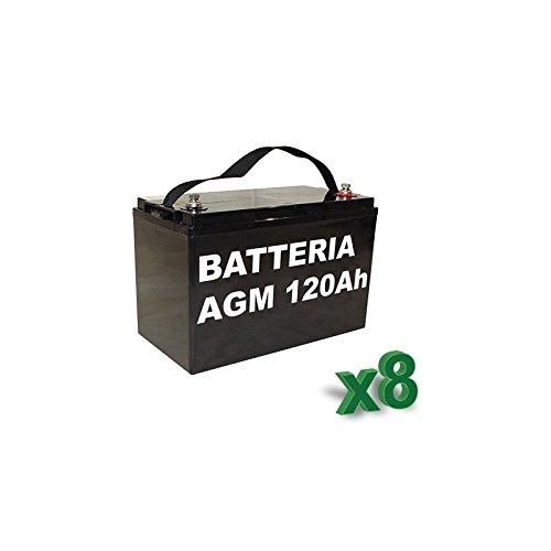 Luminor-Batterie 120Ah 12V AGM Lotto 8Stück Photovoltaik Elektrofahrzeuge-lum120-12x 8