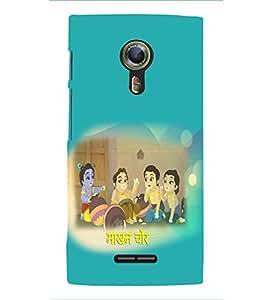 Fuson Premium Makhan Chor Printed Hard Plastic Back Case Cover for Alcatel Flash 2