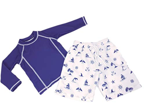 Doux Soleil Ensemble maillot de bain anti-UV UPF50+ Garçon bleu marine Bretagne
