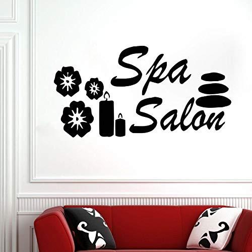 Beauty Salon Wall Sticker Spa Wall Sticker Vinyl Window Sticker Detachable Spa Wall Painting Beauty Shop Decoration red 110x57cm
