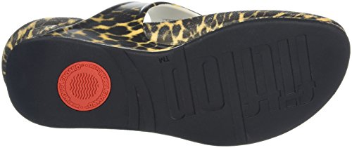 FitFlop Superjelly Leopard, Scarpe Spuntate Donna Marrone (Brown)