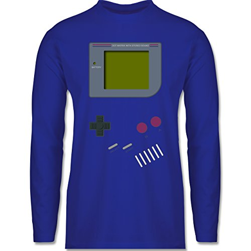 Shirtracer Nerds & Geeks - Gameboy - Herren Langarmshirt Royalblau