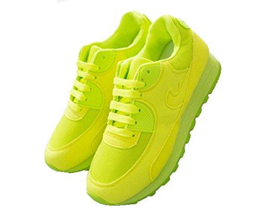 YCMDM Mujeres Deportes ShoesThe nuevo único zapatos Moda Mesh Breathable zapatos Green