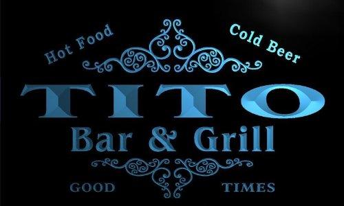u45114-b TITO Family Name Bar & Grill Home Decor Neon Light Sign Barlicht Neonlicht Lichtwerbung (Tito B)