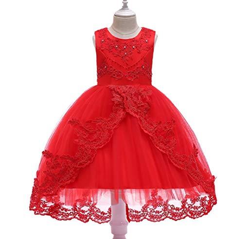 ZYLL Girl Pageant Kleider, Kleid, Weihnachtskleid, Prinzessin geeignet für Fancy Dress Halloween-Kostüm-Hochzeit Party,C,120CM (Fancy Halloween-hochzeit Dress)