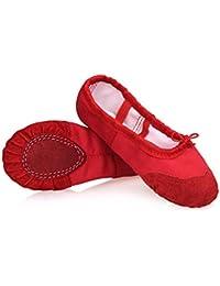 KVbaby Chaussure de Ballet Fille Chaussure de Danse Chaussures Pilates  Chaussures Yoga Gymnastique Split Plate Ballet b4c3dfa53ed