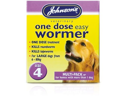 Familty Pack upto 80 kg – Johnsons One Dose Easy Wormer Tablet Worming Dogs Dewomer