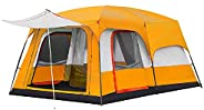 Charhoden SQ-103-O Model: TXZ-0030 Two-bedroom One hall Outdooor Tent - Instant Cabin Tent Orange - Orange, X-