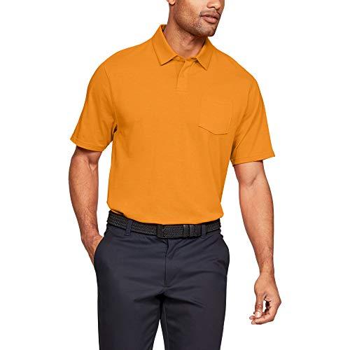 Under Armour Herren CC Scramble Poloshirt, Orange, LG - Lg Golf Shirt