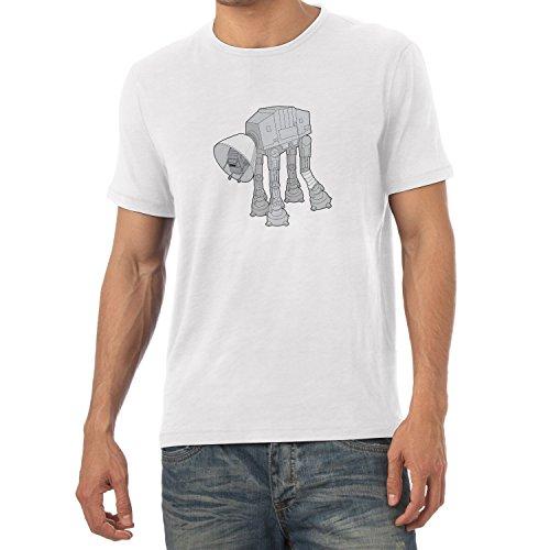NERDO - Doggy AT-AT - Herren T-Shirt Weiß