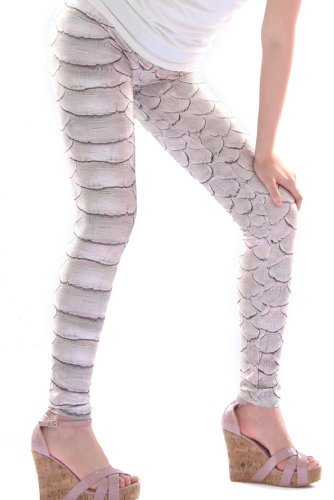 fragolina-dolcecuore-loft-leggings-taglia-unica-motivo-rettili-timando-beige