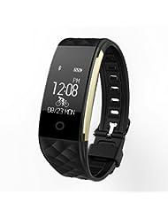 Fitness Tracker Yarrashop Smart Armband Activity Uhr Herzfrequenz Monitor Wasserdichte IP67 Fitness Gesundheit Smartwatch Wristband Bluetooth Schrittzähler für Android iOS Smartphones Weihnachtsgesche