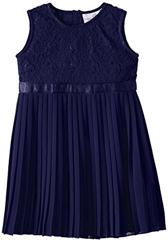 Happy Girls Mädchen Kleid mit floraler Spitze und Chiffonrock, Gr. 134, Blau (marine 62)