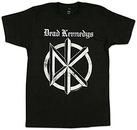 Dead Kennedys Band Distressed Old English Logo Adult Fitted Jersey