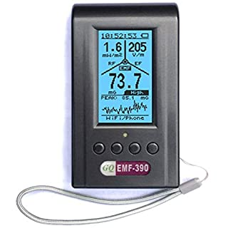 Fortschrittliche elektromagnetische Mehrfeld Strahlung EMF-390 3-in-1 EMF ELF RF HF meter Messgerät Mobilfunkmasten Detektor Datenlogger