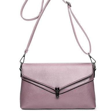 SUNNY KEY-Borsa a tracolla @ Donna Borsa a tracolla PU (Poliuretano) Per tutte le stagioni Casual Briefcase Cerniera Rosso Grigio Viola , gray purple