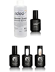 Kit french 3 vernis UV ou LED SEMI PERMANENT french manucure twincoat blanc et rosé, primer et cleaner