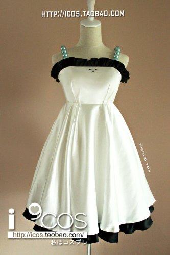 K-ON! Hirasawa Yui weißen Kleid Cosplay Kostüme Brauch (Mailen Sie uns Ihre Größe),Größe L:165-170 cm