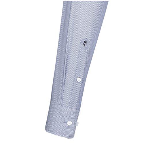 Seidensticker Modern Langarm mit Kent-Kragen Bügelfrei Mittelblau