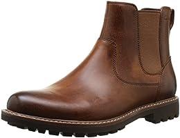 Clarks Montacute Top, Herren Chelsea Boots, Braun (Dark Tan Lea), 43 EU