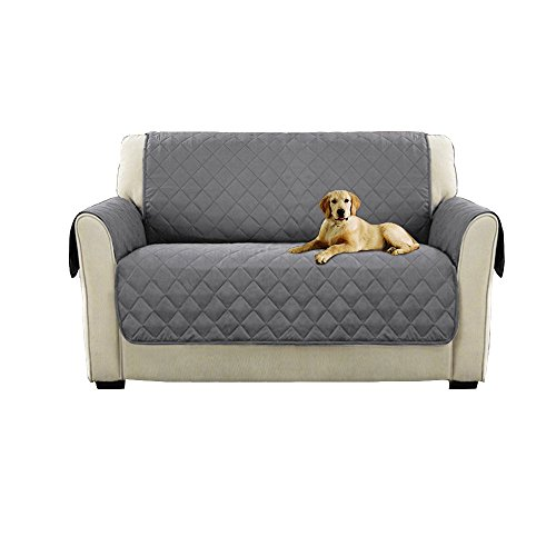 Watta rutschfester, doppelseitig verwendbarer Schonbezug für 3-Sitzer-Sofa in braunem, Schutz der Couch vor Hunden, grau, Loveseat -