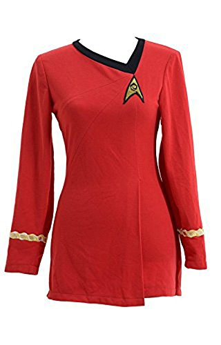 CosDaddy/ Star Trek Costume Cotton Female Duty Uniform Red (Red Star Kostüme Trek)