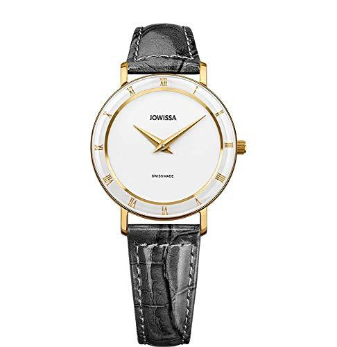 Jowissa Roma Swiss J2.283.M - Reloj de Pulsera para Mujer, Color Blanco, Gris y Dorado