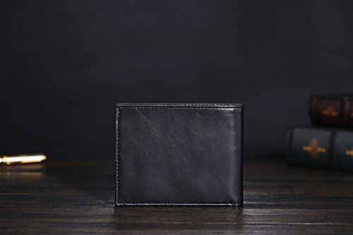 418SyCJzleL - Cronus & Rhea® | Luxury wallet with coin pocket made of exclusive leather (Plutus) | Wallet - Money Clip | Real leather | With elegant gift box | Men
