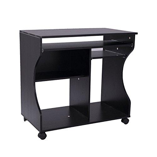 HOMCOM Computertisch Eckschreibtisch Winkelschreibtisch Schreibtisch Bürotisch PC Tisch,