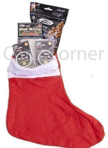 Christmas Fishing Stocking Gift Set For Carp Angler With PVA Bags String Tape & Boilies