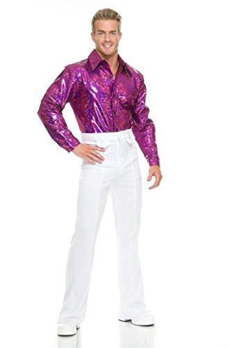70ER City luci da discoteca camicia costume rosa petto 36Dimensioni