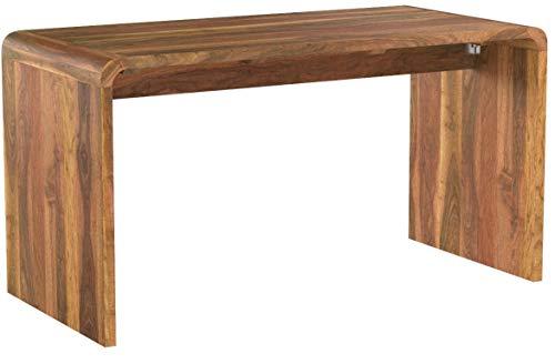 Invicta Interior Massiver Schreibtisch Cubus 150cm Sheesham Palisander Holz Stone Finish Holztisch Bürotisch Massivholz