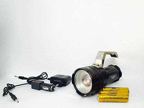 Torcia ricaricabile lanterna professionale tattica militare altissima luminosita' zoom 80000w 28000 lumens xml-t6 creehight power led flashlight 5300-6300k waterproof