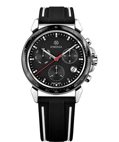 Jowissa LeWy 9 Swiss J7.107.L - Reloj para Hombre, Color Negro y Plateado