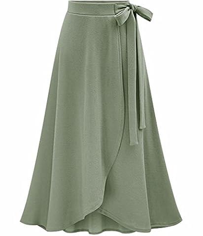 UMilk Femme élégante pour Jupe de irrégulière à rayures hautes taille