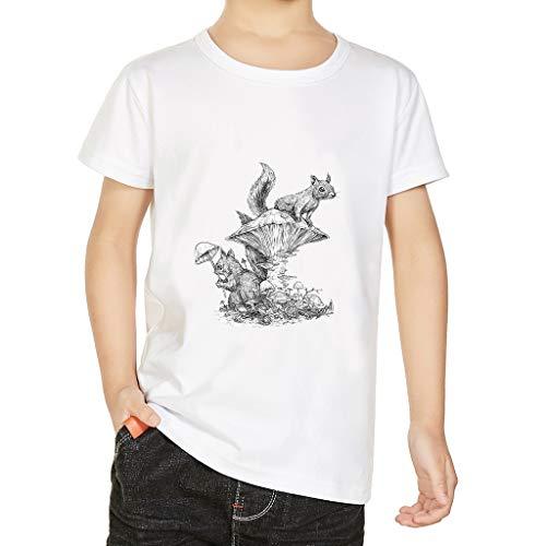 Jungen und Mädchen Mode Cartoon Animated T-Shirt Tops Unisex Kinderkleidung, bluestercool Jungen und Mädchen Cartoon-Shirt mit kurzen Ärmeln Eltern-Kind-Kleidung Kinderkleidung (Mutter Vater Und Sohn Kostüm)