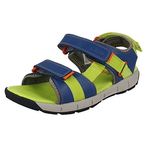 Clarks Jolly Crazy Inf Boy's Casual Sandals 10.5 Blue Combi