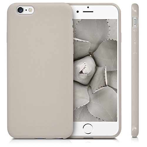 kwmobile Hülle für Apple iPhone 6 / 6S - TPU Silikon Backcover Case Handy Schutzhülle - Cover Rot matt .Beige matt