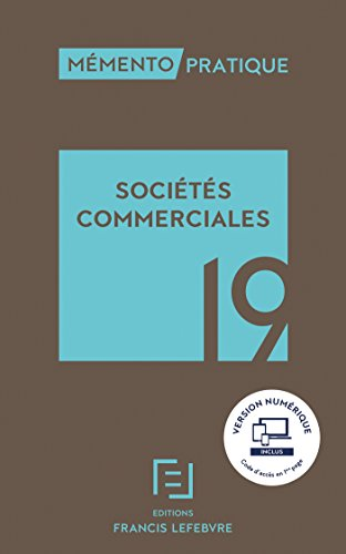 MEMENTO SOCIETES COMMERCIALES 2019
