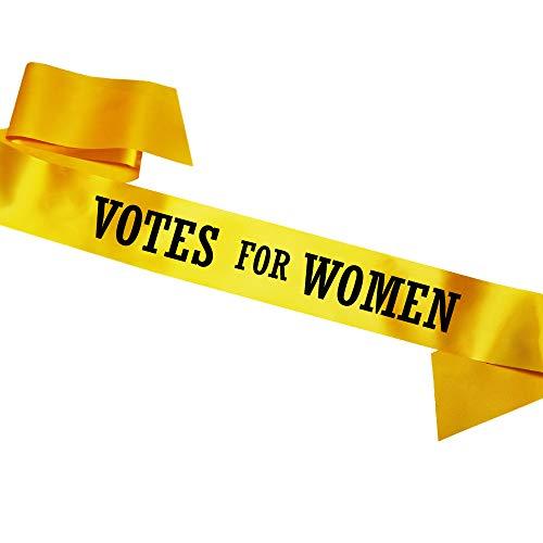 Kostüm Suffragetten - Votes for woman Schärpe Sash Fandy dress Costume Suffragette Emmeline Pankhurst SB1071AYELLOW