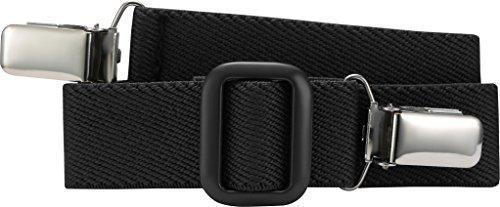 Playshoes Unisex - Kinder Gürtel 601200 Elastischer Kindergürtel mit Clips Uni, passend bei Größe 116-140, Gr. one size, Schwarz (schwarz) Polyester-jungen-clip