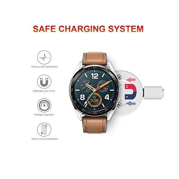 AIEVE Cable de Cargador para Huawei Watch GT, Base de Acoplamiento del Cable del Cargador de Repuesto con Protector de… 3