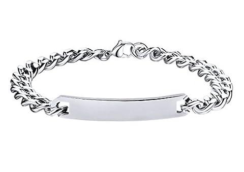 Bracelet Personnalisé avec Prénom Bijoux en Argent Cadeau Noël pour Saint Valentin Bracelet Collier Gravure Prénom/Date de Naissance Bracelet Romantique Amour Couple Femme Homme Amour