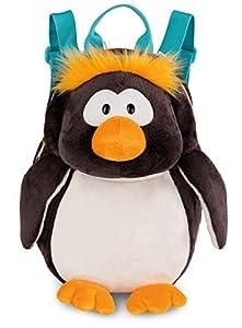 NICI- Mochila c/Forma de pingüino Frizzy, Color Negro (1)