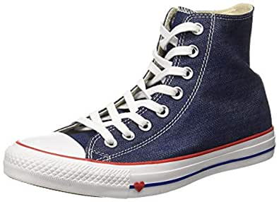 Converse Women's Textile Indigo/Enamel Red/Blue Sneakers-7 UK/India (40 EU) (8907788162536)